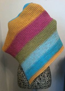 Grab your favourite flavour (I mean colour) of Caron Cake and whip up this Easy Breezy Triangle Scarf.