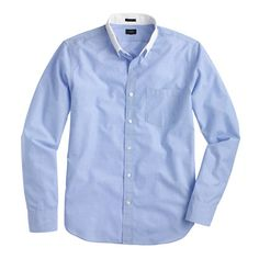 4c954e252fd Slim Secret Wash white-collar shirt in end-on-end cotton