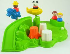 Fisher Price Little People Playground + 4 Figures 1986 Toy  #FisherPrice
