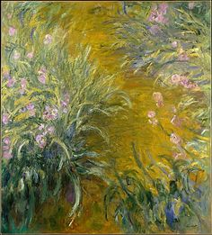 Claude Monet  (French, 1840–1926). The Path through the Irises, 1914–17. The Metropolitan Museum of Art, New York. The Walter H. and Leonore Annenberg Collection, Gift of Walter H. and Leonore Annenberg, 2001, Bequest of Walter H. Annenberg, 2002 (2001.202.6) #spring