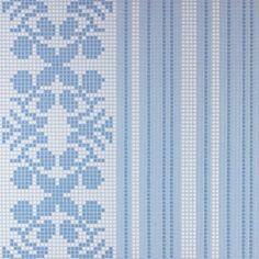 #Bisazza #Decorations Opus Romano Wallpaper Blue | #Porcelain stoneware | on #bathroom39.com at 157 Euro/box | #mosaic #bathroom #kitchen