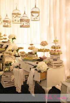 this is not just a dessert table... this is a dessert installation! designed for vintage inspired wedding