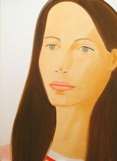 Christy T., 2008, by Alex Katz