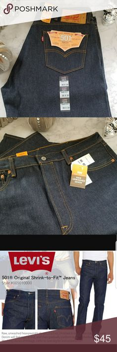 Levi's 501 Shrink-To-Fit New with tags. 38×30 Levi's Jeans Straight