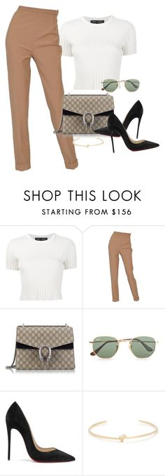"""Untitled #2680"" by camila-echi ❤ liked on Polyvore featuring Proenza Schouler, Hermès, Gucci, Ray-Ban, Christian Louboutin and Jennifer Fisher"