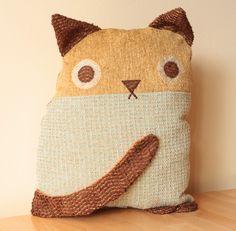 Cat cushion made out of scrap fabrics