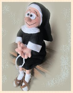 Crochet pattern nun Constance Amigurumi doll crochet by LenasHobby