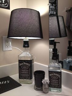 Have an Empty Wine Bottle? Turn it to an Amazing Lamp Like This - http://www.amazinginteriordesign.com/empty-wine-bottle-turn-amazing-lamp-like/