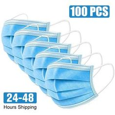 Pcs Disposable Three-Layer Protective Civilian Mask Non-Woven Face Mask Dustproof Facial Protective Cover Masks Filter, Safety Mask, Body Fluid, Infrared Thermometer, Mouth Mask, Ear Loop, Layers, How Are You Feeling, Stuff To Buy