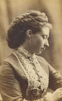 Princess Alice, grand duchess of Hesse and by Rhine.Mids 1870s.