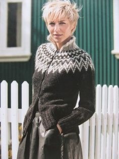 Billedresultat for strikkeopskrifter sweater Knit Vest Pattern, Sweater Knitting Patterns, Knitting Stitches, Knitting Designs, Ropa Free People, Icelandic Sweaters, Fair Isle Knitting, Vintage Knitting, Knitwear