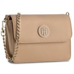 Kabelka TOMMY HILFIGER - American Icon Mini Crossover Solid AW0AW03691 Cuban Sand 062
