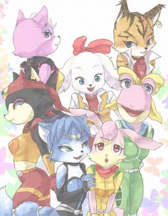The Girls Of Star Fox