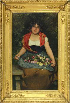 Gaetano Bellei (It., 1857-1922), The Flower Seller Sold $18,000