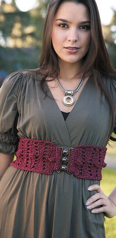 #Ravelry : Crochet Maiden's Corset pattern by Dora Ohrenstein To make something like this but with a knit pattern.