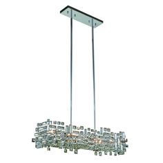 Shop for Elegant Lighting Picasso 35 inch Pendant Lamp with Chrome Finish  and Crystal Featuring chrome tipped bulbs housed in elegant seeded glass  . Elegant Lighting West Springfield. Home Design Ideas