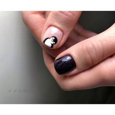 Simple Nail Art Designs That You Can Do Yourself – Your Beautiful Nails Dream Nails, Love Nails, My Nails, Nails Ideias, Penguin Nails, Bunny Nails, Animal Nail Art, Nails For Kids, Manicure E Pedicure