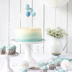 Ballon-Ombré-Törtchen & Schoko-Cupcakes - ein Mini-Sweettable - Emma's Lieblingsstücke