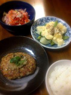 マリネがさっぱりして美味しかったです - 2件のもぐもぐ - 和風ハンバーグ、じゃがいもとアスパラの卵サラダ、パプリカのマリネ by lovenameko
