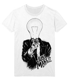 awesome T-shirt Bulb Lightbulb Just Make It Motivation Idea  -  T-shirt Merch Just make it Apparels Buy You can get longsleeve or t-shirt, even tanks for boys and girls. Just picks the size of your favourite apparel and put the item to a basket.
