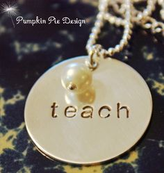 Teachers Necklace- $25. My title might say assistant principal but I will always be a teacher at heart!