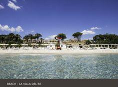 La Villa del Re, 5 star hotel in Sardinia front-sea with luxury services. Luxury Services, Hotel Guest, Beach Umbrella, Beach Pool, Positano, Summer Sun, 5 Star Hotels, Beautiful Beaches, Dolores Park