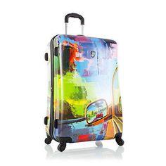 "Heys Cruise 30"" Luggage Suitcase Road Trip Hardcase Patterned TSA Spin – LazyBreeze Deals"