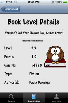 Level Finder - allows you to look up the AR™ level of over 126,000 books on the go. This is almost every English AR™ book title currently available! $1.99