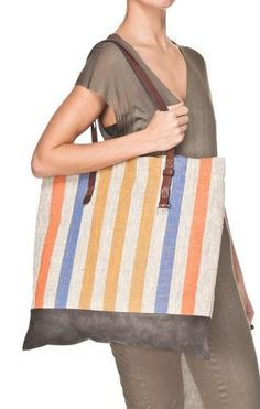 Canvas Tote with Gray Trim  - edition01