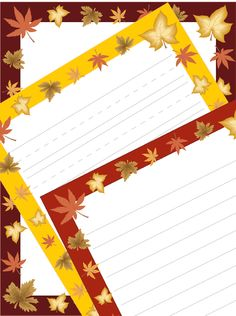 Fall Leaves Writing Paper — fun incentive for students and fun for teacher too