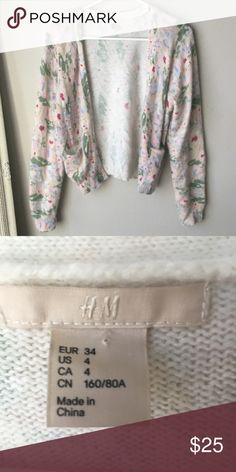 Unique print H&M cardigan Great condition. Never seen a print like this. If you know the name let me know! H&M Sweaters Cardigans