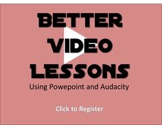 This workshop is about creating better video lessons for your learners using widely available tools: Powerpoint and Audacity. Do's and don'ts for both form and content are addressed. One month after the ½-day workshop, participants are invited to hand-in their work for personalized feedback. Workshop, Content, Education, Tools, Reading, Atelier, Training, Learning, Appliance