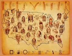 You might like this board.         Native American Tribal Map
