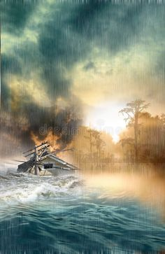 Illustration about Home dragged by flooded waters during a storm. Illustration of disaster, swamp, storm - 7095813 Broucher Design, Water Flood, Sea Storm, Sea Level Rise, Water Damage, Natural Disasters, Short Film, Climate Change, Illustration