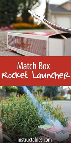 These rockets launch over 40 feet, with aluminum foil and a wooden match. They may be tiny, but they're powerful! Powered by a single match head.