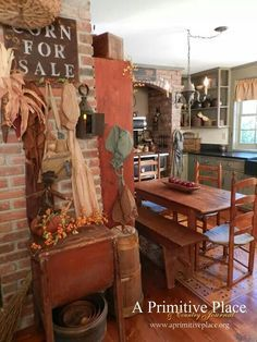 Primitive country mustard colored kitchens - Search
