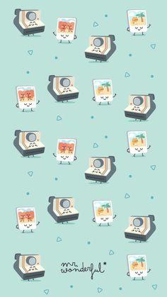 16 New ideas for wallpaper pattern backgrounds summer Cute Wallpaper Backgrounds, Trendy Wallpaper, Wallpaper Iphone Cute, Cellphone Wallpaper, Screen Wallpaper, Retro Wallpaper, Kawaii Wallpaper, Pastel Wallpaper, Cartoon Wallpaper