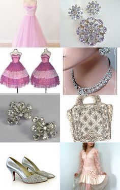 --Pinned with TreasuryPin.com  Includes our single strand vintage rhinestone necklace.