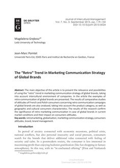 """The """"Retro"""" Trend in Marketing Communication Strategy of Global Brands"""