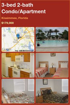 3-bed 2-bath Condo/Apartment in Kissimmee, Florida ►$179,000 #PropertyForSale #RealEstate #Florida http://florida-magic.com/properties/5216-condo-apartment-for-sale-in-kissimmee-florida-with-3-bedroom-2-bathroom