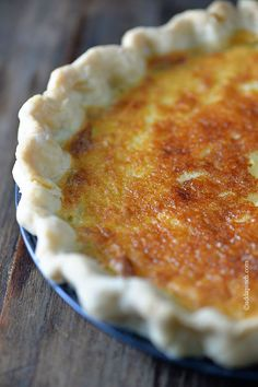 Buttermilk Pie Recipe from addapinch.com