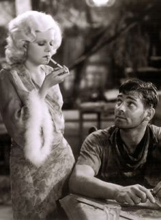 Jean Harlow and Clark Gable in Red Dust (Victor Fleming, 1932)