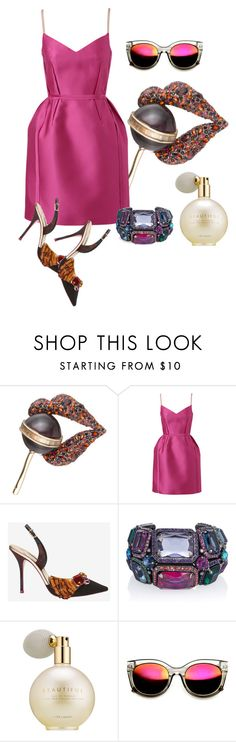 """Untitled #9536"" by awewa ❤ liked on Polyvore featuring Alexis Bittar, Lanvin, Sophia Webster and Estée Lauder"