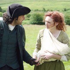"Ross, Demelza Love the hand on the baby - like ""hi, darling"" <3"