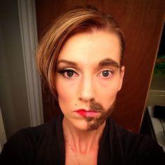 #makeup #halloween #2014 #man #woman #mixed #fun