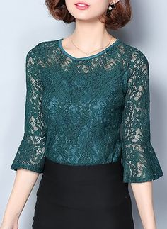 Blouse And Skirt, Blouse Outfit, Blouse Styles, Blouse Designs, Kebaya Lace, Sunday Dress, Blouse Models, Lace Tops, African Fashion