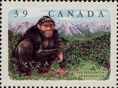 Native American Bigfoot Legends   canada scott 1289 issued 1990 is one of a commemorating legendary ...
