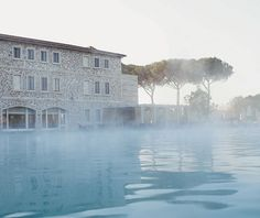 Terme di Saturnia Mineral Pool Italy. Hydro-Centric Cures are being rediscovered and becoming a recent trend in travel