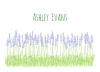 Purple lavender flowers grow tall in the sweet green grass on this folded note stationery. Kids Stationery, Stationery Shop, Personalized Stationery, How To Fold Notes, How To Grow Taller, Lavender Flowers, Growing Flowers, Cool Fonts, Green Grass