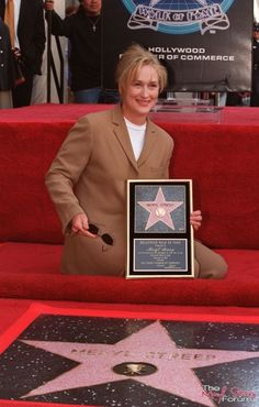 Meryl Streep at The Hollywood Walk of Fame, Los Angeles, California, USA Hollywood Walk Of Fame, Hollywood Boulevard, Hollywood Stars, Meryl Streep, Web Therapy, Denis Villeneuve, The Iron Lady, Academy Award Winners, Hollywood California